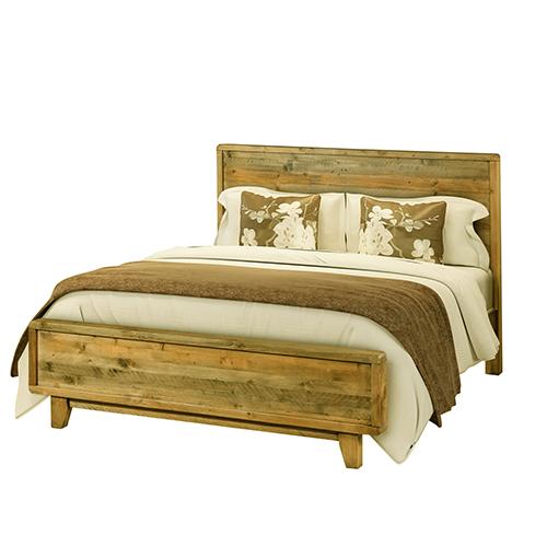 Buy Woodstyle Light Brown Queen Bed Frame Online In