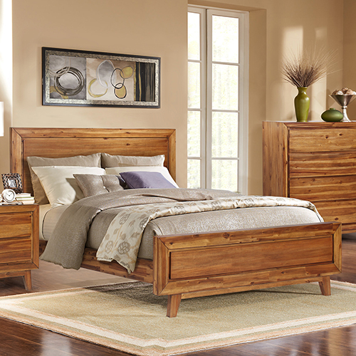 York Euro Walnut Queen Bed