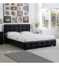 Bondi Leatherette Bed with Tufted Back Rest