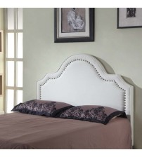 Anne Fabric Headboard with Nail Button Trim