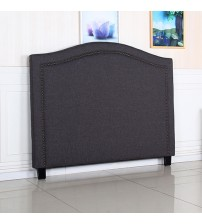 Carla Queen Charcoal Headboard with Curved Design