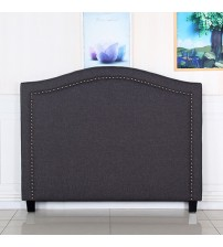 Carla Fabric Headboard with Curved Design
