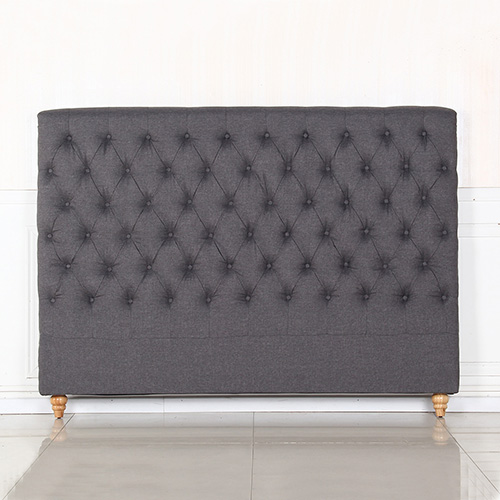 Sean Queen Fabric Bed Headboard in Provincial Design