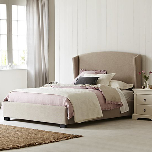 Venus Winged Fabric Upholstered Bed Headboard