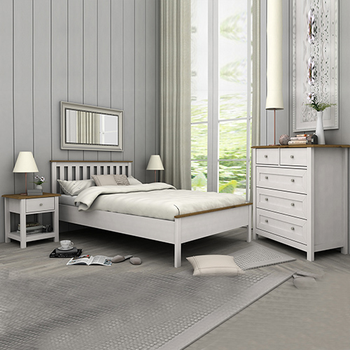 Abelina Mellow White Queen Bedroom Suite