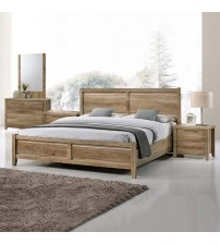 Alice Bedroom Suite 4 pcs in Multiple Size & Oak Colour