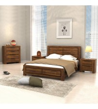 Aston 4 pcs Queen Bedroom Suite in Caramel Colour