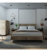 Havana Wooden Colour 4 pcs Queen Bedroom Suite