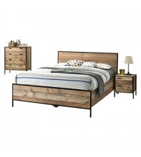Mascot Oak Colour 4 Pcs Queen Bedroom Suite