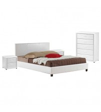 Mondeo Leatherette Bedroom Suite in Multiple Colours