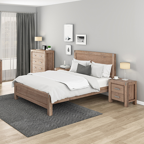 Nowra Bedroom Suite 4 pcs in Multiple Size Oak Colour