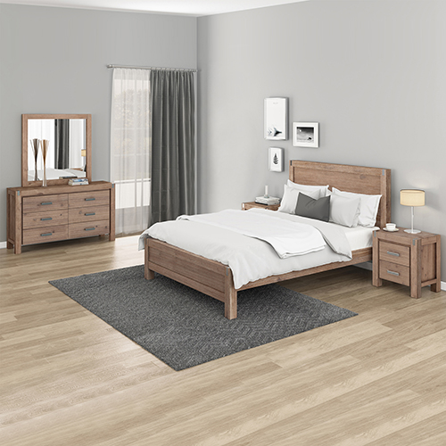 Nowra Oak Colour Bedroom Suite 4 pcs in Multiple Size