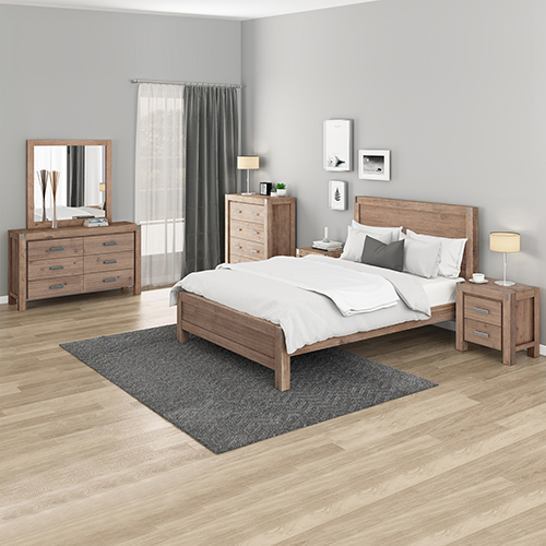 Nowra Bedroom Suite 5 pcs in Multiple Size Oak Colour