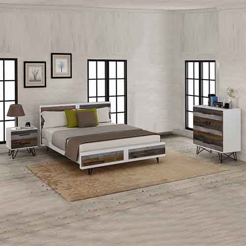 Shelby MDF 4 Pcs Queen Bedroom Suite