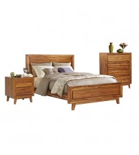 York Queen Euro Walnut Bedroom Suite