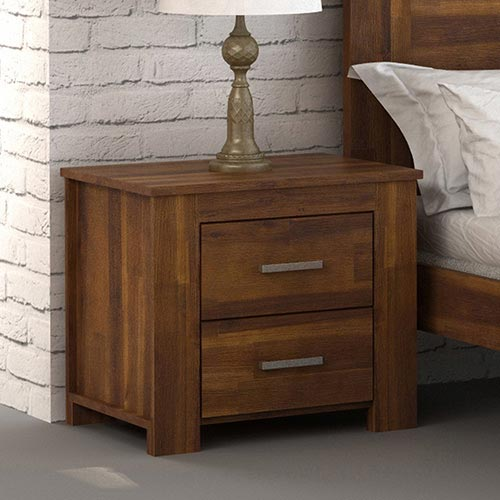 Arron Java Rustic Bedside Table