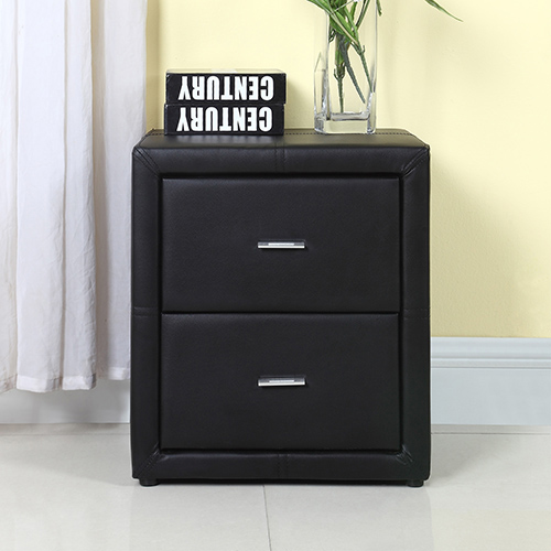 Bondi Leather MDF Bedside Table