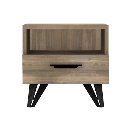 Havana Wooden Colour Bedside Table