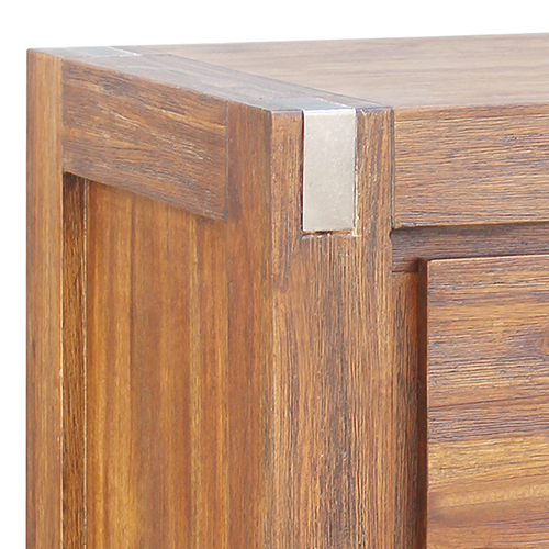 Brushed Walnut Colour Bedside Table