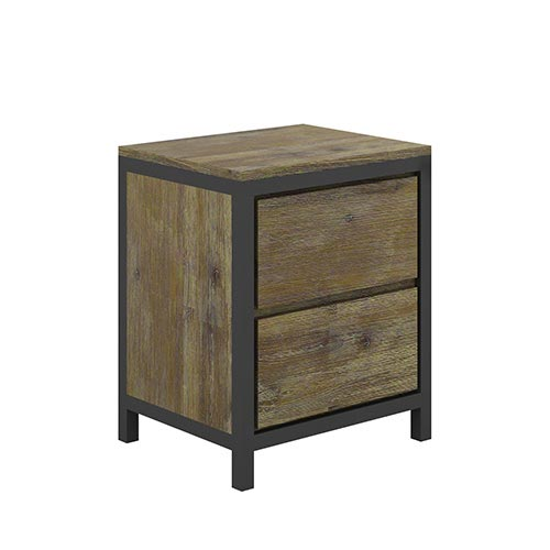 Nouva Boutique Grey Bedside Table