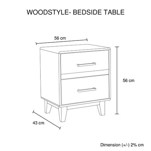 Buy Woodstyle Light Brown Bedside Table Online In