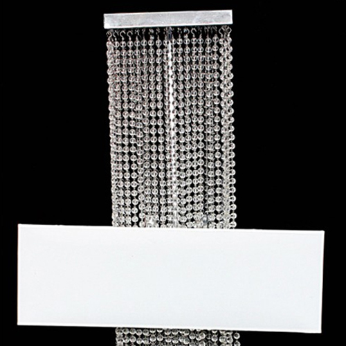 Ceiling Light Metal Frame Pearly Bead Chain