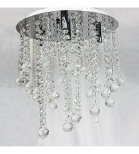 Ceiling Ligh Glass Crystal Pendant & Metal in Clear