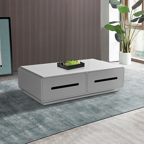 Majeston Shiny White Glossy Coffee Table