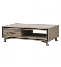 Seashore Silver Brush Colour Coffee Table