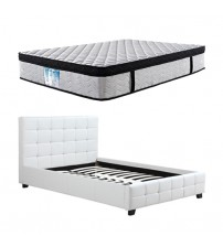 Bravo Queen Bed with Latex Eurotop Mattress