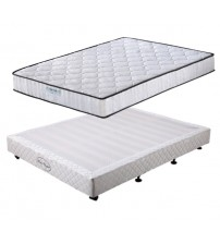 Wooden Slatted BASE with Sleep System 2 Mattress
