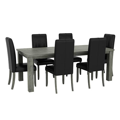 Acacia Turkish Green Dining Table With 6X Chair