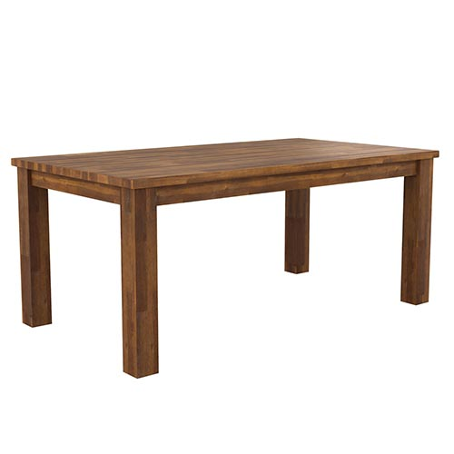 Arron Java Rustic Dining Table With 6X Chair