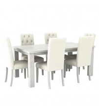 Arya Ash Ceram Dining Table With 6X Chair