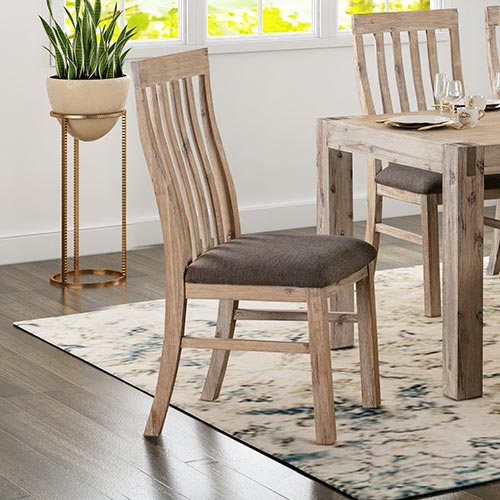 Java Oak 2X Dining Chairs