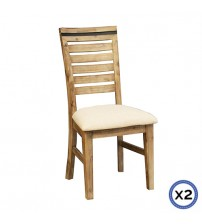 Seashore Silver Brush Colour Dining Chairs