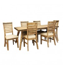 Seashore Dining Table with 6 Chairs