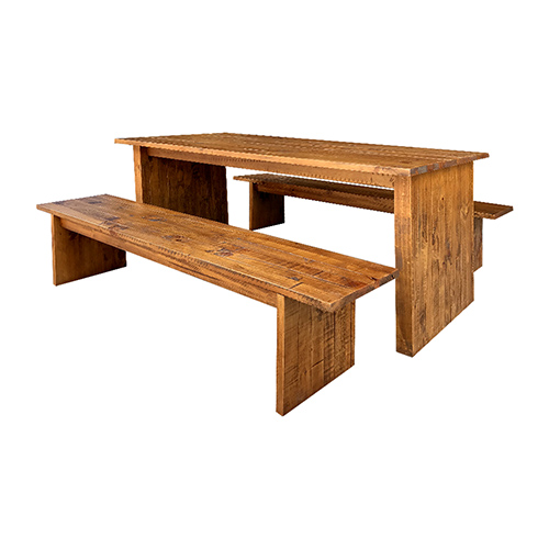 Cob&Co Dining Table With 2X Bench Table