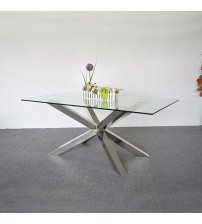 Jason Stainless Steel Glossy Dining Table