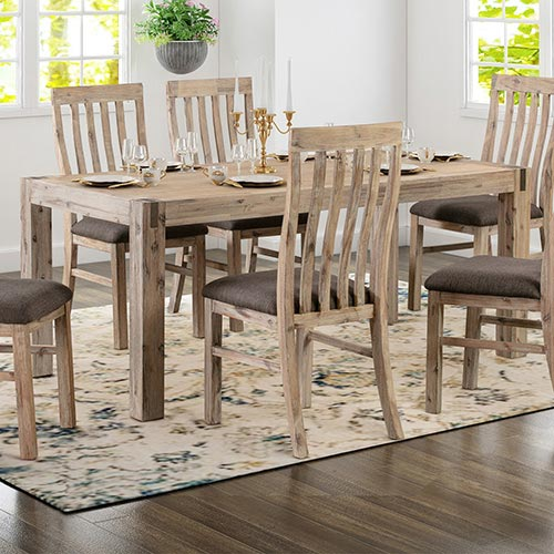 Java Dining Table With 6X Chair