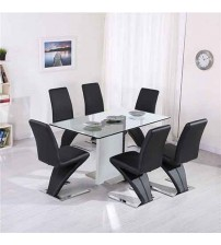 Z Dining Table with 6X Chairs