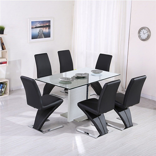 Z Dining Table with 6 Chairs