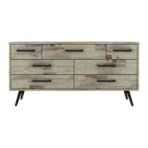 Altona Acacia Wood 7 Drawers Dresser