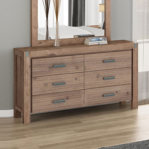 Nowra 6 Drawers Dressing Chest Oak Colour