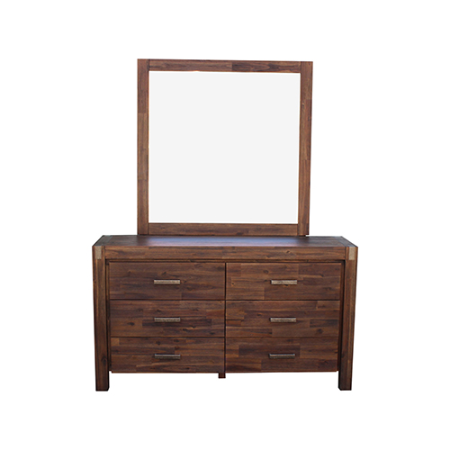 Nowra 6 Drawers Dressing Chest With Wall Or Dresser Mirror