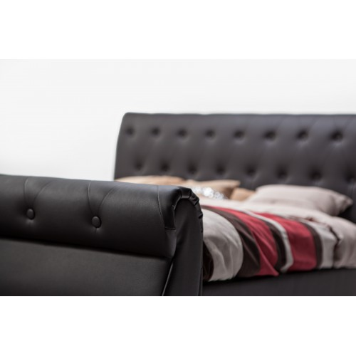 CF 8201 Leatherette Bed in Chesterfield Style