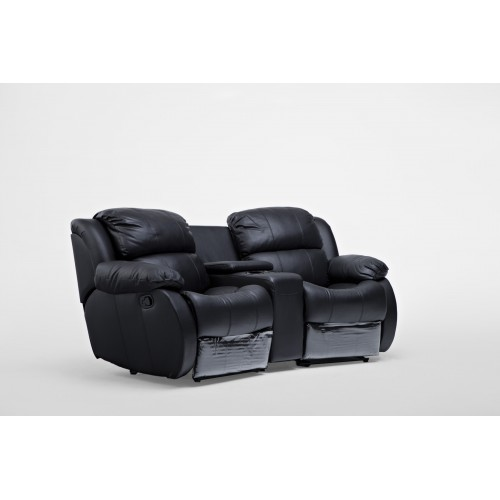 F211 Black 1R-Console-1R 1 Left Recliner