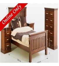 Sterling Wooden Bed