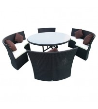 5 Pcs Cream Colour Dining Set