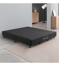 Wooden Slatted Mattress Base with Latex Pillow Top Mattress